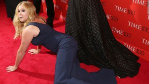 Amy Schumer on the red carpet