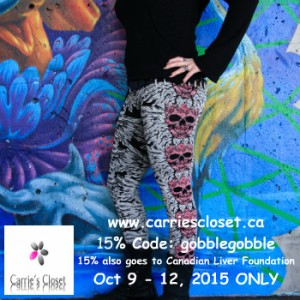 Carrie's Closet discount Oct 9 - 12, 2015